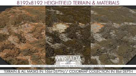 Myriada 8k Mountain Heightfield Package